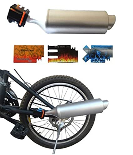 "BlueSunshine Bicycle Exhaust Pipe with Turbine Motorcycle Sound a Super Cool Accessory for 16""-"