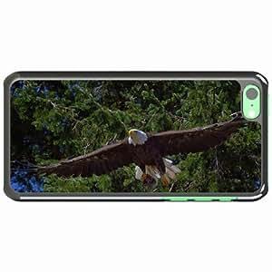 iPhone 5C Black Hardshell Case bald predator flying trees Desin Images Protector Back Cover