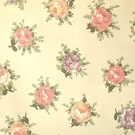 Sanderson Carta Da Parati Rotolo Rose Design Crema Wr8302 1
