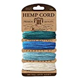 Hemptique Hemp Cord Card, 20 lb, Aqua