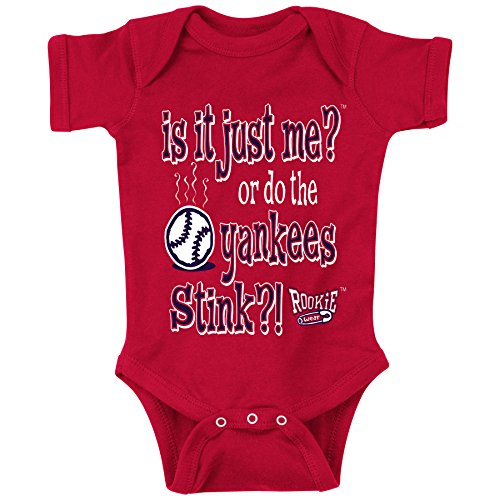 (Rookie Wear by Smack Apparel Boston Red Sox Fans. is It Just Me?! Red Onesie (12M))