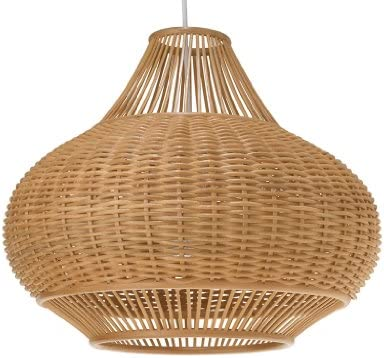 KOUBOO 1050029 Wicker Pear Pendant Lamp, 18 x 18 x 15 , Natural