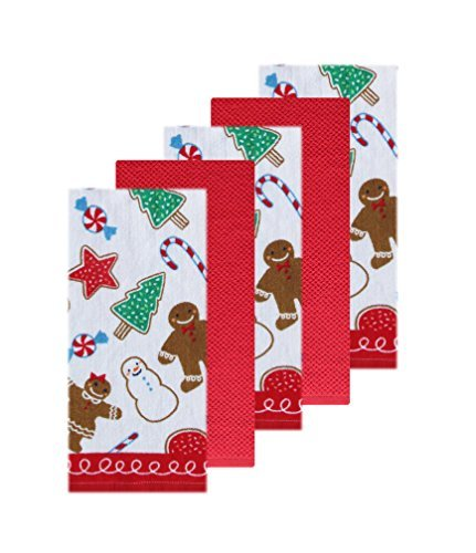 The Big One Christmas Kitchen Towel Set Gingerbread Cutout Cookies 5 (Gingerbread Towel)