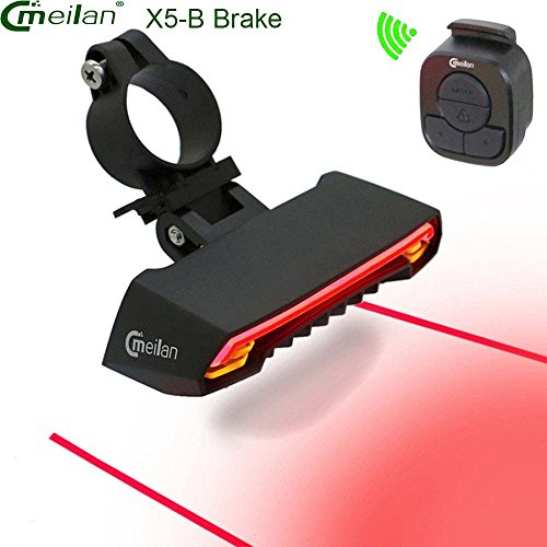 Rear Signal Kit - Bike brake Tail Light Kit ,with Smart Brake Wireless Control USB Rechargeable Easy To Install for Kids Men Women Mountain Road Cycling Safety Rear Light