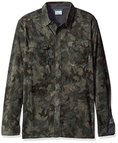 - Columbia Men's Forest Park Printed Shirt Jacket, Pond Camo, X-Large