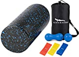 OLIVIA & AIDEN High Density Foam Roller Set - Assorted Massage Balls and Resistance Bands for Exercise, Physical Therapy and Deep Tissue Muscle Massage
