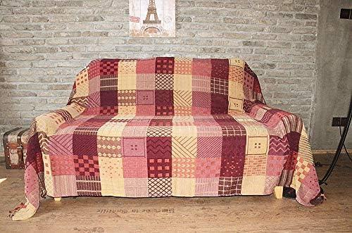 Hillhead Chenille sofá Toalla Tela Arte algodón Manta sofá cojín ...