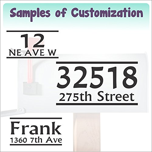 Personalized Vinyl Mailbox Decals Letters Custom Street Address Stickers, Set of 2 Jumbo by Wall Decor Plus More (Image #6)
