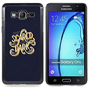 - Scared Dark Blue Gold Text Calligraphy - - Snap-On Rugged Hard Cover Case Funny HouseFOR Samsung Galaxy On5 SM-G550FY G550