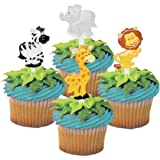 Zoo Animal Cupcake Picks - by Bakery Supplies (24-Pack)