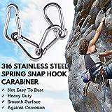 Konooy Caribeener Clips, Snap Hooks, 316 Stainless