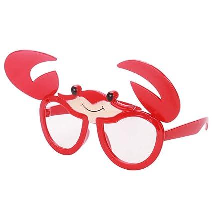 BESTOYARD Juguete Gafas Divertidas Disfraz Gafas Accesorios para niños  Cangrejo Anteojos Vestir Gafas Accesorios de Fotos Artículos de Fiesta para  ... 79e3585b1ae