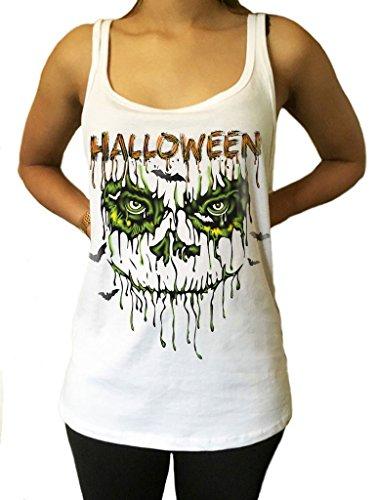 Irony Cappuccio Spaventoso di Costume di Halloween del Cestino di Jersey - Scritto di Orrore di spaventapasseri JTK934