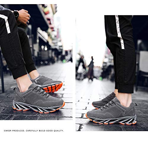 Gray Hombres Yxiaol Deportivos De Libre Zapatos Aire Zapatillas Tamaño Al Para Libre Gran Hombres Deporte 161fHYq