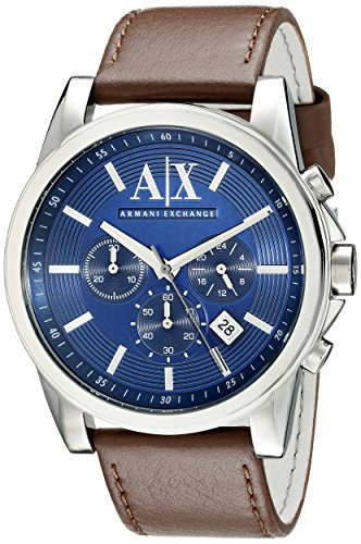 Armani-Exchange-Mens-AX2501-Brown-Leather-Watch