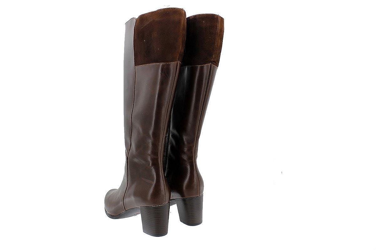 PieSanto Scarpe donna comfort pelle pelle pelle 175875 XXL Stivale polcaccio largo Cuero (Tan) 3d4075