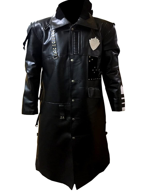 GOTG 2 Men's Black Faux Leather Yondu Michael Rooker Coat