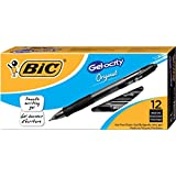 BIC Gelocity Gel Pen, Black, Medium-0.7mm, Dozen Box