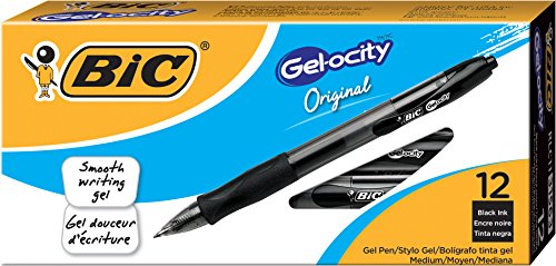 BIC Gel ocity Retractable Medium 12 Count product image