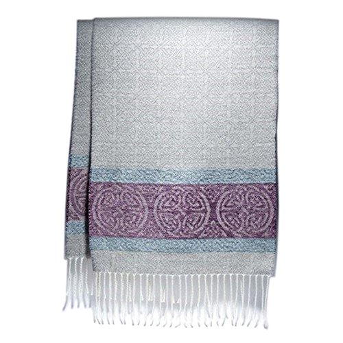 Calzeat Celtic Artic Grey Wool Scarf