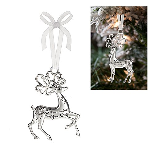 Prancing Reindeer Ornament: Fill Your Holiday With Good Cheer - By Ganz