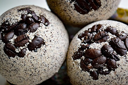 Coffee Bath Bomb - 100% Organic - Coffee Infused Oils - Increase concentration and Smooth Skin all at once - Large Size - 5.5 oz