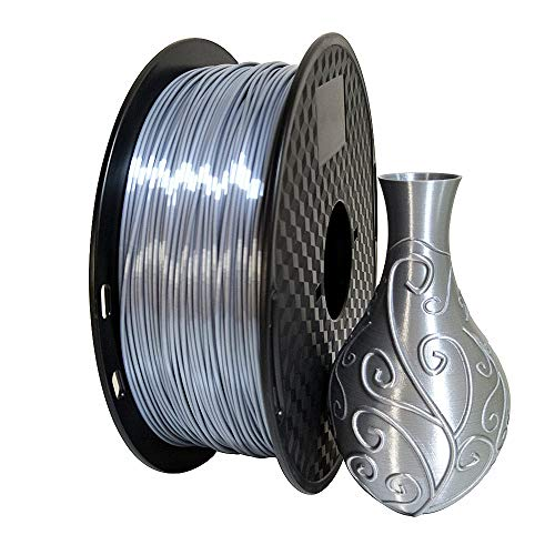 Shiny Silk Silver PLA Filament 1.75mm 3D Printer Filament 0.5KG Shiny Metallic Metal Silky Shine PLA Material 500g