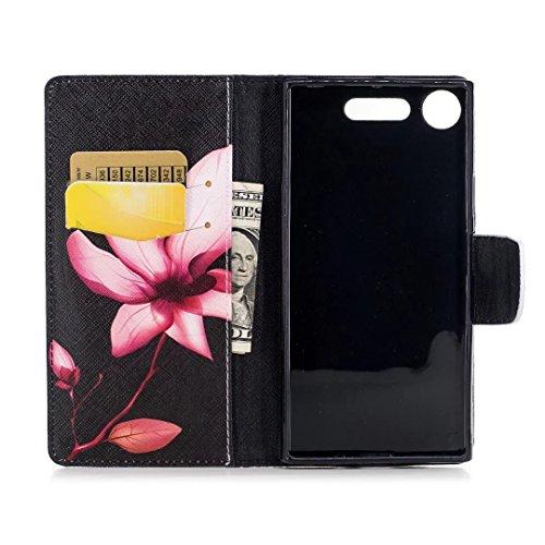 COWX Xperia XZ1 Hülle Kunstleder Tasche Flip im Bookstyle Klapphülle mit Weiche Silikon Handyhalter PU Lederhülle für Sony Xperia XZ1 Tasche Brieftasche Schutzhülle für Sony Xperia XZ1 schutzhülle Zy3Nux