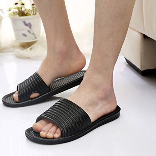 Sandal Home Beach Unisex Jiyaru Black Skid Slippers Proof Couples nT10naqWxg