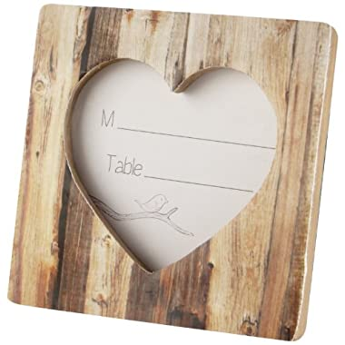 Kate Aspen  Rustic Romance  Faux Wood Heart Place Card Holder/Photo Frame