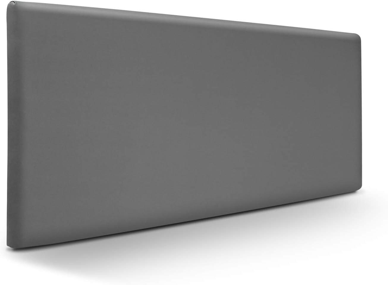 SUENOSZZZ-ESPECIALISTAS DEL DESCANSO Cabecero de Cama Liso tapizado en Polipiel para Camas de 150 (160 x 57 cm) Polipiel Ceniza