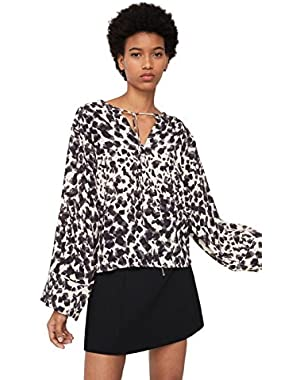 Mango Women's Printed Blouse