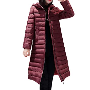 Womens Coats Winter Besde Womens Fashion Casual Warm Lightweight Solid Hooded Outwear Warm Coat Long Thicker
