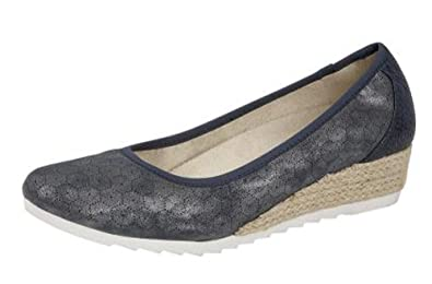 03a7c0b3359 CIPRIATA Womens Low Wedge Comfort Sandals Shoes Gold Silver Blue  Amazon.co. uk  Shoes   Bags