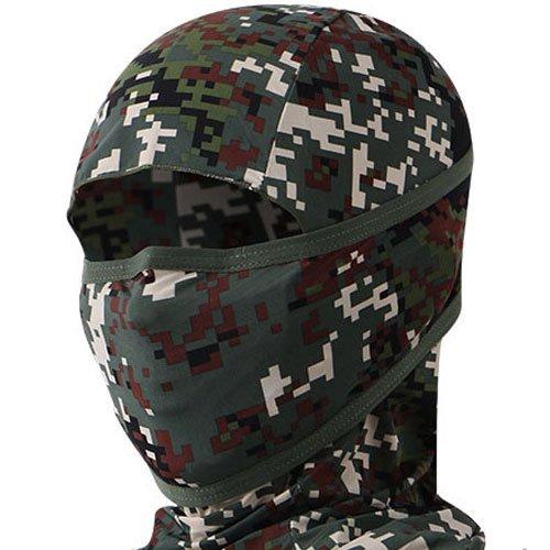 INCONTRO Outdoor Motorcycle Full Face Mask Balaclava Ski Neck Protection Clothing Neck Gaiter Bandana, Lightweight & Breathable Hiking, Outdoor, Fishing Mask, (Dot-Military)