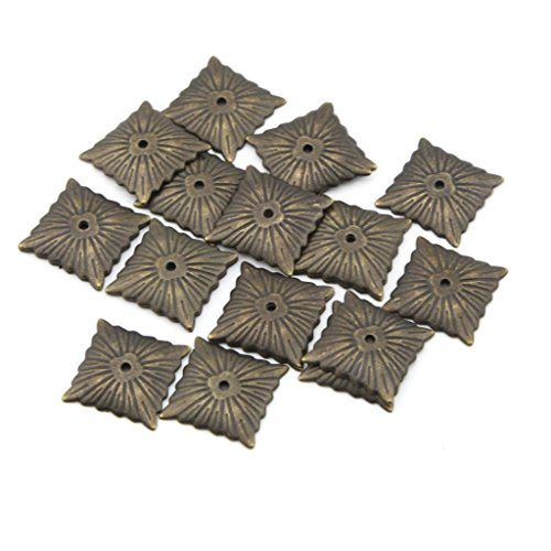 - eMylo 21x21mm Antique Bronze Quartet Nailhead Upholstery Tacks/ Nails Decorative Nails Thumbtack Drum Nail Pack of 50