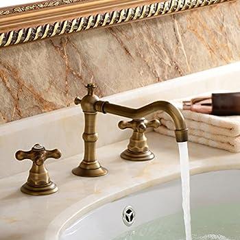 Two Handle Widespread Bathroom Vanity Sink Lavatory Faucet