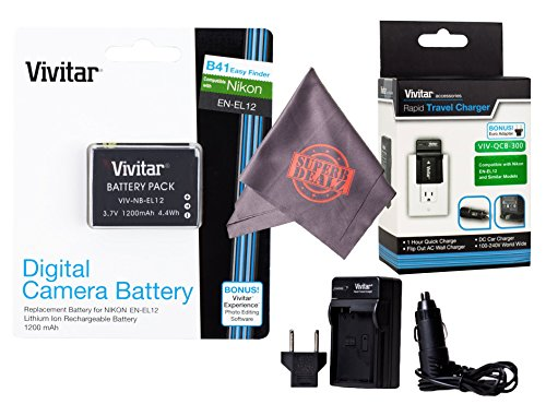 Vivitar EN-EL12 Ultra High Capacity Rechargeable 1200mAh Li-