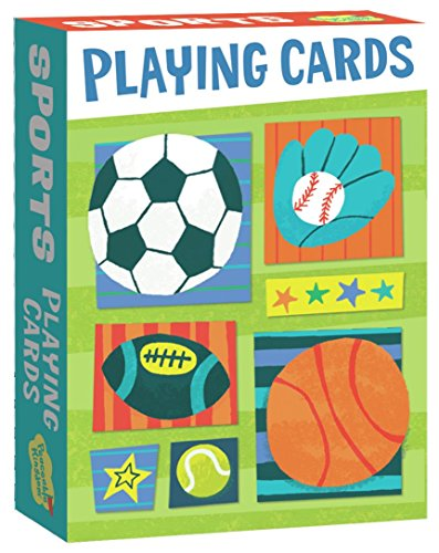 Peaceable Kingdom Super Sports Playing Card Deck of 52 Cards plus 2 Jokers with - Playing Sports Cards