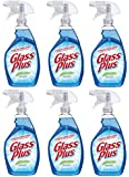 Glass Plus Glass Cleaner, 32 fl oz Bottle (6 Pack), Multi-Surface Glass Cleaner