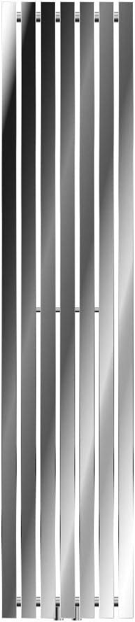 ECD Germany Stella Design Radiador de panel Cromo Radiador de dise/ño moderno Radiador de ba/ño 360 x 1800 mm Calentador de toallas Secador de toallas Radiador plano