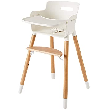 Amazon.com : Wooden High Chair for Babies and Toddlers - with ...