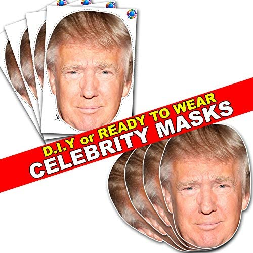 Theresa May Version 4 Politician Celebrity Card Mask Masks Pre Cut With Elastic