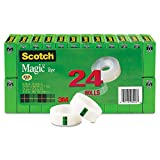 Scotch 810K24 Magic Tape, 1'' Core, 3/4''x1000'', 24/PK, Transparent