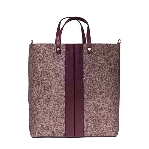 Borbonese Borsa Shopping Donna 904002J01N38 Poliestere Viola