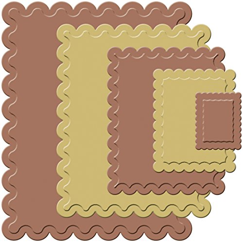(Spellbinders S4-131 Nestabilities Small Classic Scalloped Rectangles Die Template)