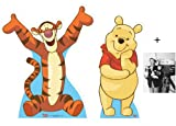 FAN PACK - Winnie the Pooh and Tigger LIFESIZE CARDBOARD CUTOUT (STANDEE / STANDUP) - INCLUDES 8X10 (25X20CM) STAR PHOTO - FAN PACK #Set287