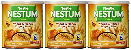 Nestle Nestum Cereal, Wheat and Honey, 10.5 Ounce Container (Pack of 3)