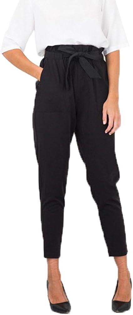 Dooxi Donna Adatti I Pantaloni Vita della Slim Casual Pantaloni Avere Una Cintura