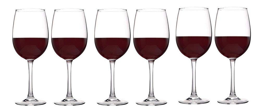 Kefbhefe Glass Red Wine Goblet, 100% Hand-Blown Lead-Free Crystal Glass, Wine Glass, 350ML, 2, 4, 6,Package3:6Cups